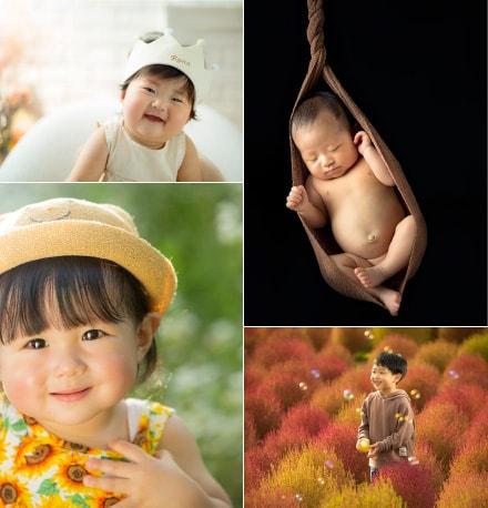 赤ちゃんや子どもの写真