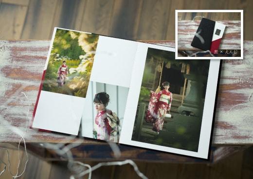 Fプラン:表紙は着物をイメージした和風なデザイン(10面15ポーズ)