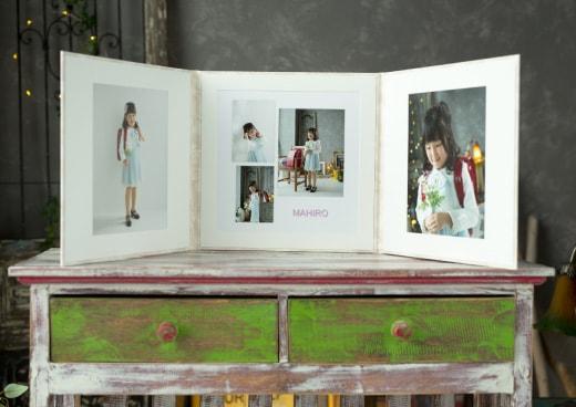 Cプラン:高級レザー台紙(5カット)